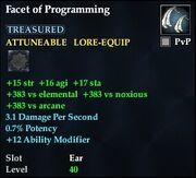Facet of Programming