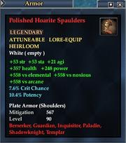 Polished Hoarite Spaulders