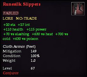 Runesilk Slippers