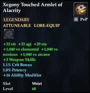 Xegony Touched Armlet of Alacrity