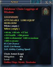 Delahnus' Chain Leggings of Wisdom