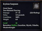 Feyiron harpoon