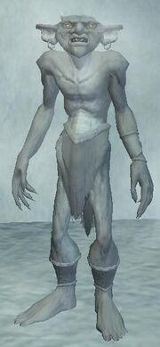 An enslaved snow goblin
