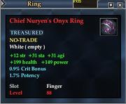 Chief Nuryen's Onyx Ring