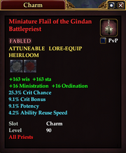 Miniature Flail of the Gindan Battlepriest