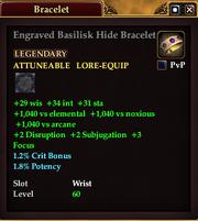 Engraved Basilisk Hide Bracelet