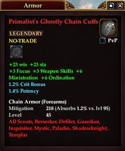 Primalist's Ghostly Chain Cuffs