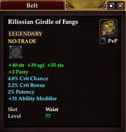 Rilissian Girdle of Fangs
