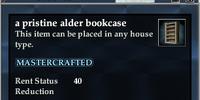 A pristine alder bookcase