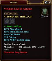 Viridian Coat of Autumn