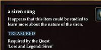 A siren song