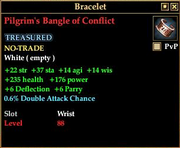 Pilgrim's Bangle of Conflict