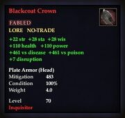 Blackcoat Crown