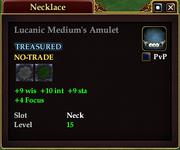 Lucanic Medium's Amulet