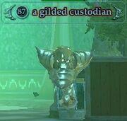 A gilded custodian