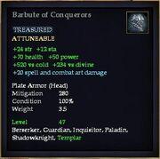 Barbute of Conquerors