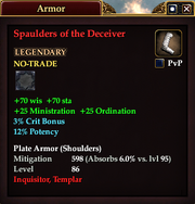 Spaulders of the Deceiver