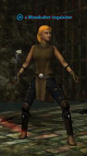 A Bloodsaber inquisitor (human)