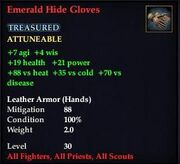 Emerald Hide Gloves