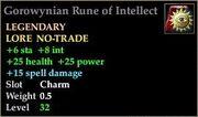 Gorowynian Rune of Intellect