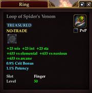 Loop of Spider's Venom