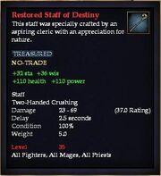 Restored Staff of Destiny