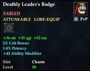 Deathly Leader's Badge