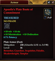 Apostle's Plate Boots of Commitment