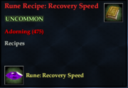 Rune Recipe- Recovery Speed