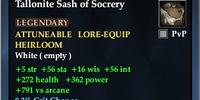 Tallonite Sash of Socrery