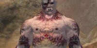 A strangely stitched zombie