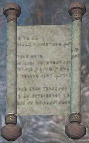 An Ancient Halas Scroll (Visible)