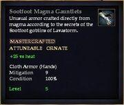 Sootfoot Magma Gauntlets