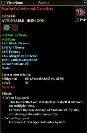 Warlord's Irebound Gauntlets