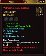 Withering Treant Greaves