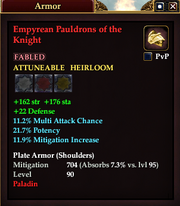 Empyrean Pauldrons of the Knight