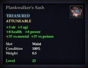 Plankwalker's Sash
