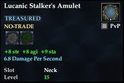 Lucanic Stalker's Amulet
