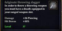 Fulginate throwing dagger