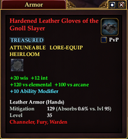 Hardened Leather Gloves of the Gnoll Slayer