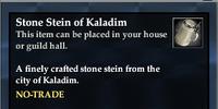 Stone Stein of Kaladim