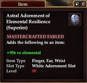 Astral Adornment of Elemental Resilience (Superior)