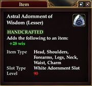 Astral Adornment of Wisdom (Lesser)