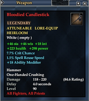 Bloodied Candlestick