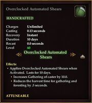 Overclocked Automated Shears