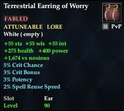 Terrestrial Earring of Worry
