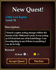 Little Lost Raptor Quest