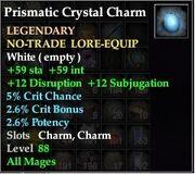 Prismatic Crystal Charm