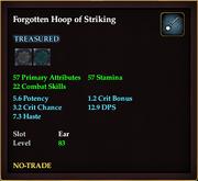 Forgotten Hoop of Striking