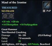 Maul of the Irontoe